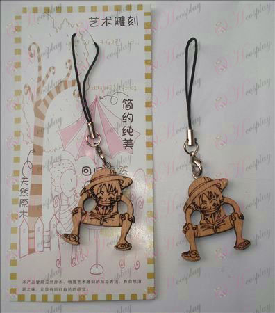 Luffy wood engraving Strap (a)