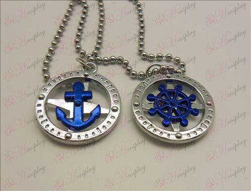 One Piece Accessories rudder anchor Necklace (boxed)