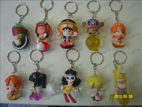 10 frukt pajer Team Pirate Keychain