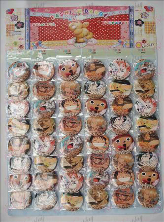 One Piece Accessoires Broches (48 / plaat)