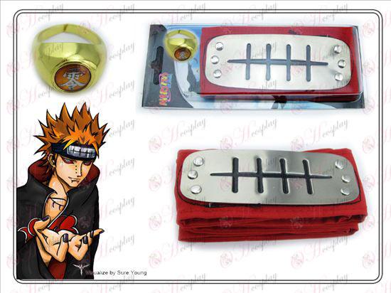 Naruto Payne rosso della fascia + Cinque Anelli di parola pari a zero