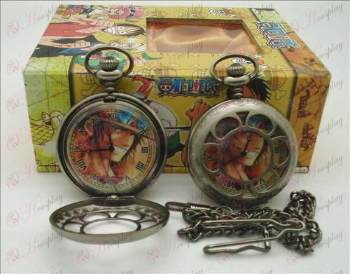 One Piece Accessories Ice hollow pocket watch + Cards