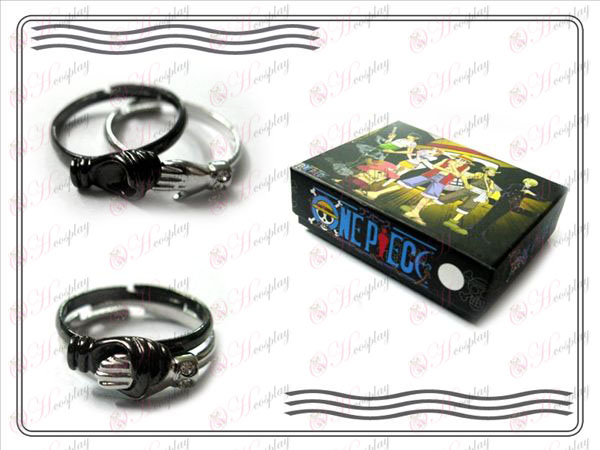 One Piece Accessories handshake Couple Ring (right)