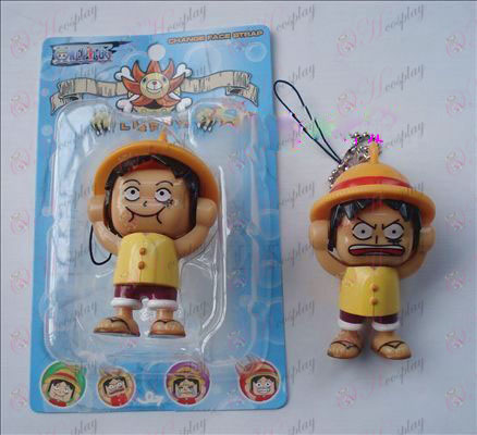 One Piece Accessories Face Luffy doll (yellow) Large