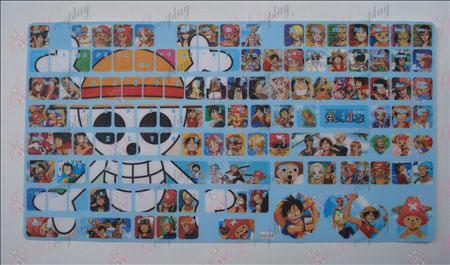 One Piece Tilbehør tastatur klistermærker