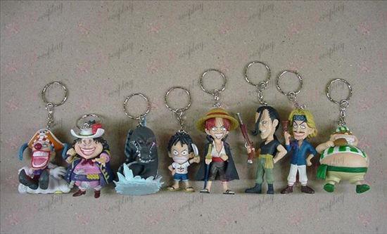 35 på vegne av åtte One Piece Tilbehør nøkkelringer