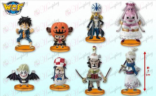 32 per conto di otto One Piece Accessori bambola culla (risposte di Halloween) Box