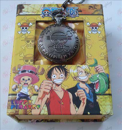 One Piece аксессуары Карманные часы + Card