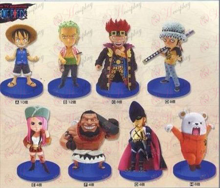 28 on behalf of eight base 8cm One Piece Accessories Doll