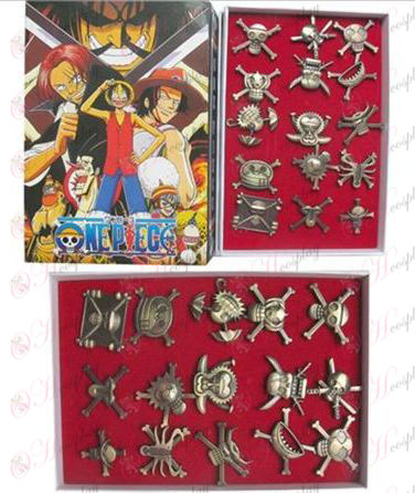 15 of One Piece Accessories pirate flag banner brooch