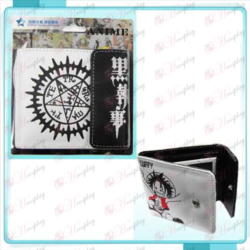 Black Butler Accessories deed printed logo snap wallet