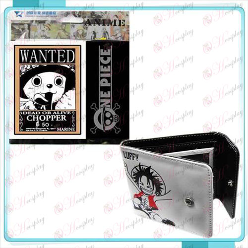 One Piece Accessoires Chopper warrant snap portemonnee