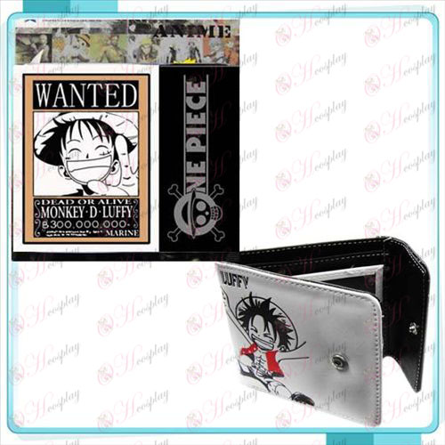 One Piece Tillbehör Luffy ville snap plånbok