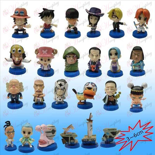 24, One Piece Accessories Blue plate doll