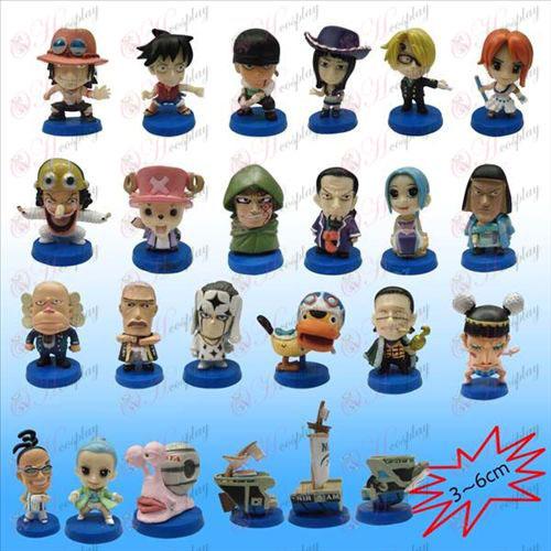 24 One Piece Tilbehør Blå plade dukke