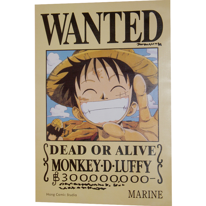 42 * 29 Luffy wanted embossed poster (photos)