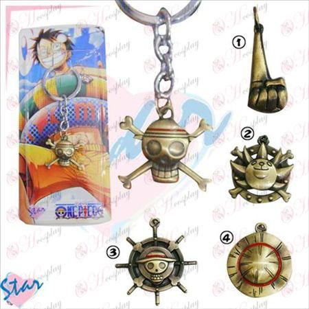 One Piece accessoires porte-clés bronze
