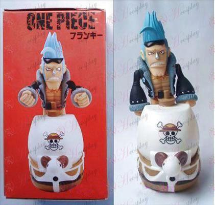 One Piece Acessórios para armas louco pote de dinheiro boneca (19 centímetros)