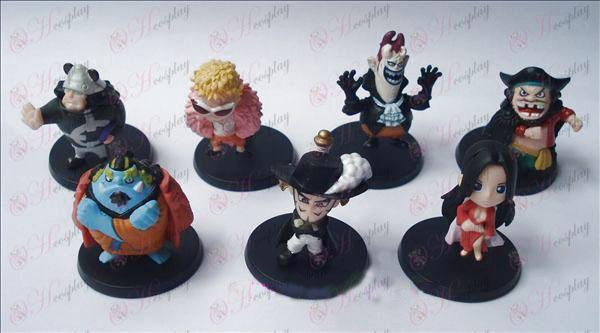 28 em nome de sete modelos One Piece Acessórios berço boneca (7 / set)