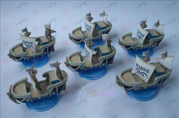AOne pieza Accesorios azul marino barco de fondo (6 / set)