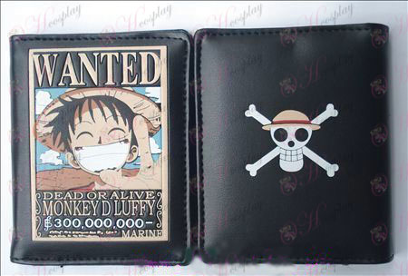 One Piece Accessories Luffy warrant leather wallet (Jane)
