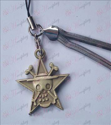 One Piece Kiegészítők pentagram koponya telefon lánc 32-6A (réz)
