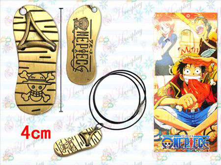 One Piece Accessories Luffy sandals black rope necklace