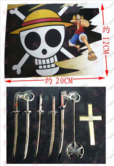 7 do One Piece Acessórios Conjunto faca fivela