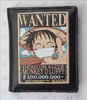 One Piece Acessórios Procurado Luffy Carteira de Couro (Jane)