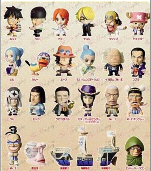 24, Q versão de One Piece Acessórios (5-6cm)