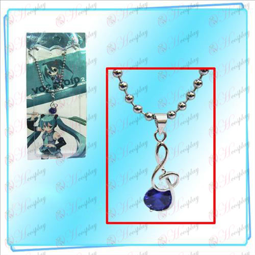 Hatsune notes with purple diamond necklace