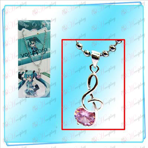 Hatsune observa con Red Diamond Necklace