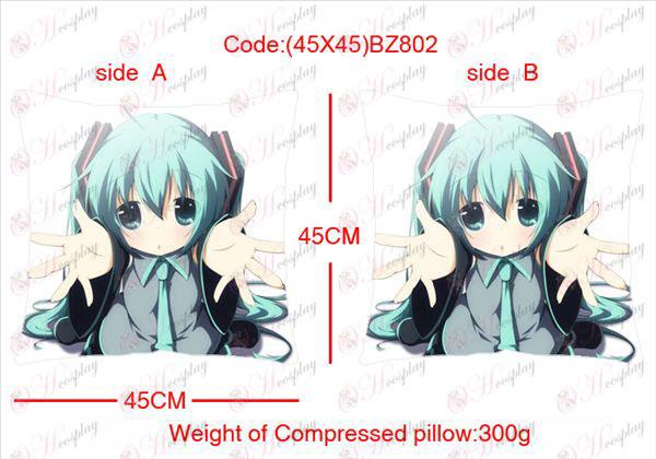 (45X45) BZ802-Hatsune Miku Tilbehør Anime sidet firkantet pude