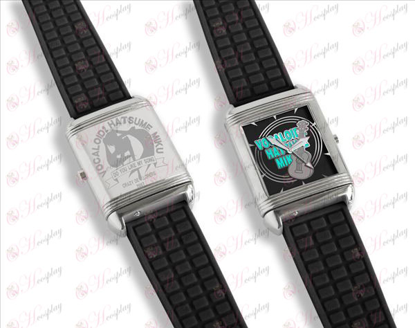 Dual letterlijk flip horloges (Hatsune)