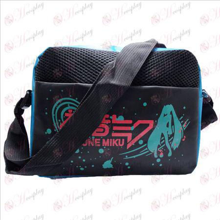 Hatsune vlag blauw nylon kleine satchel