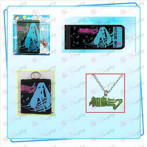 Hatsune Miku Accessories necklace fold wallet combo (necklace random distribution
