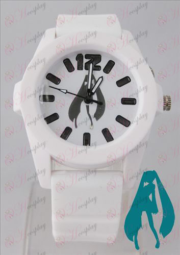Hatsune цветни мигащи светлини часовници - White