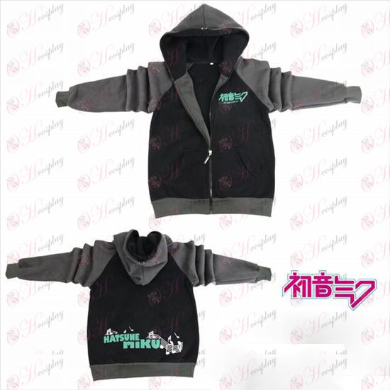 Hatsune Miku Accessories logo fork sleeve zipper hoodie sweater