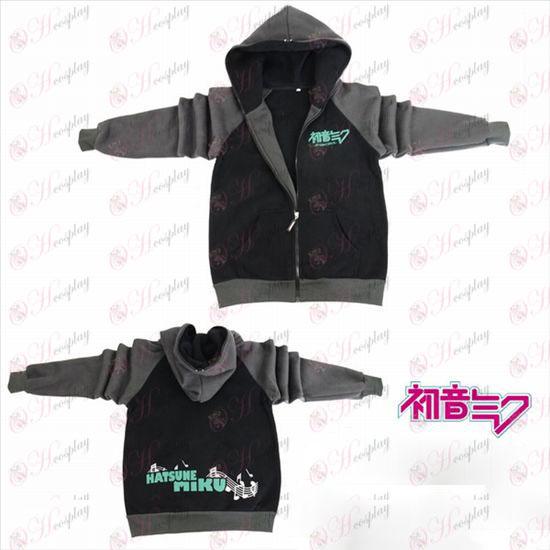 Hatsune Miku Tilbehør logo gaffel sleeve lynlås hoodie trøje