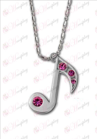 Hatsune - 8th note with diamond necklace 925 silver