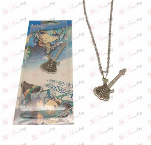 D Hatsune Guitar Necklace (Black)