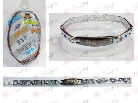 Bracciale in acciaio con diamanti Hatsune