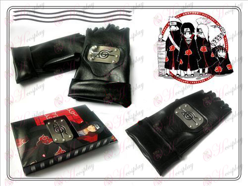 Naruto Itachi Uchiha Deluxe Edition Leather Gloves