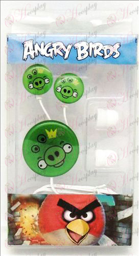 Epoxy headset (Angry Birds Accessories Green Pig)