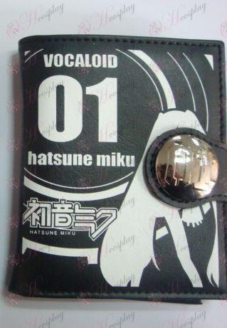 Hatsune i plånboken (svart)