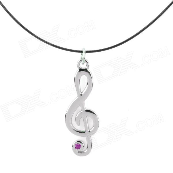 Hatsune note 3 pink diamond necklace