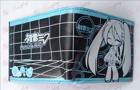Hatsune tvåfaldig läder plånbok (A)