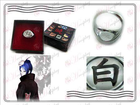 Edizione Naruto Xiao Organizzazione Ring Collector (Bianco)