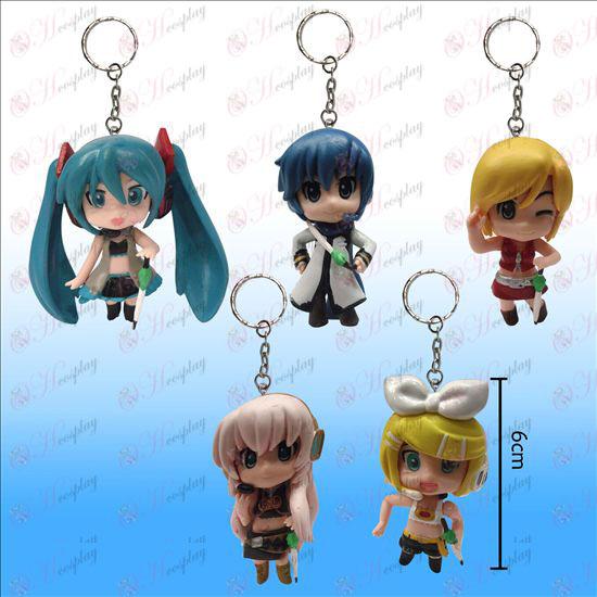 3 Generation 5 modeller Hatsune dukke nøgle kæde