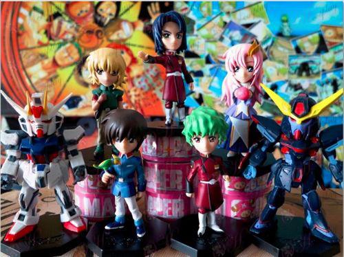 Осем Gundam Аксесоари характер кукла (меки корици)
